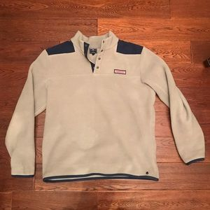 Vineyard vines half up button fleece heavy grey
